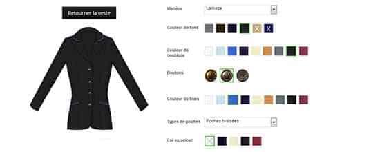 Fonctionnalité de personnalisation de vêtements dynamique sur Magento