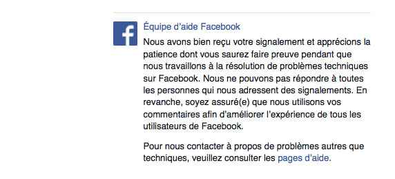 message-facebook-suite-a-un-probleme