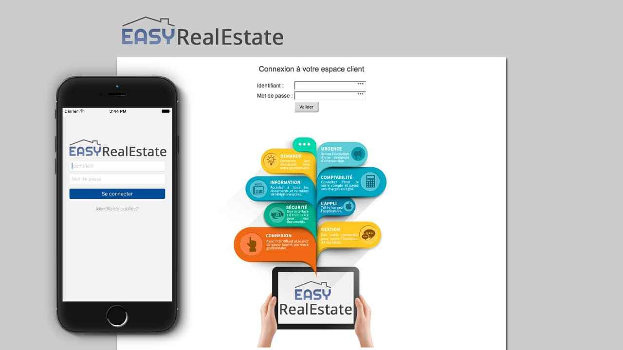 Extranet et Application iPhone Easyrealestate