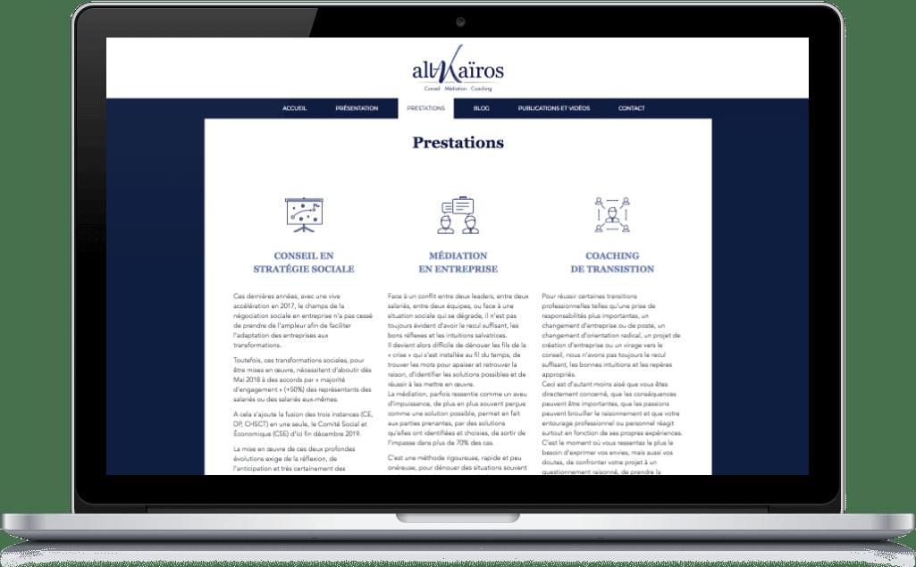 Screenshot site web conseil