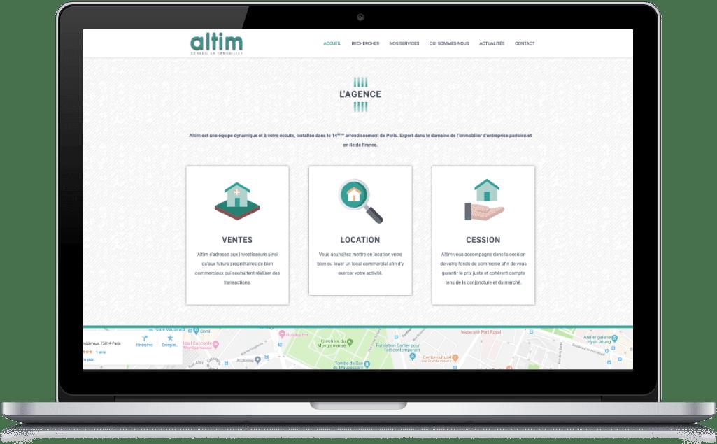 Page l'agence du site web Altim Conseil