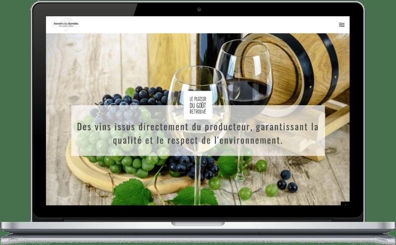 Homepage du site internet Domaine des Gloriettes