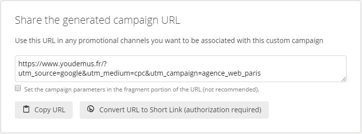 Génération URL Builder