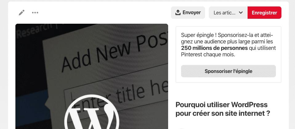 Capture d'écran 2019 07 30 à 17.09.41 - Les entreprises françaises peuvent désormais faire de la publicité sur Pinterest