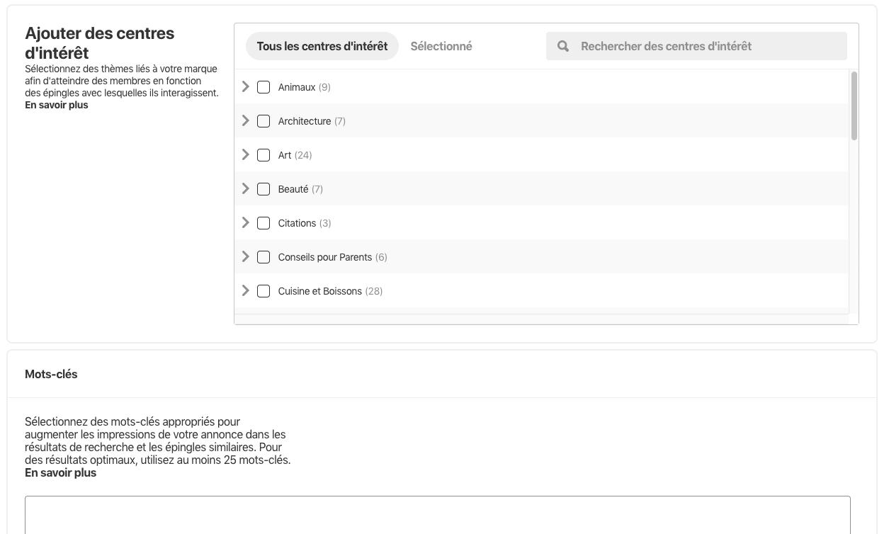 Capture d'écran 2019 07 30 à 17.16.55 1024x615 - Les entreprises françaises peuvent désormais faire de la publicité sur Pinterest