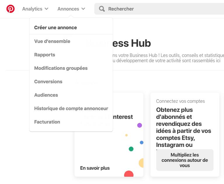 Capture d'écran 2019 07 31 à 11.06.57 - Les entreprises françaises peuvent désormais faire de la publicité sur Pinterest