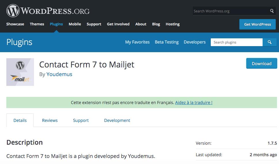 Capture d'écran 2020 04 24 à 15.31.34 - Lier le formulaire Contact Form 7 de Wordpress à l'outil d'emailing Mailjet grâce à un plugin
