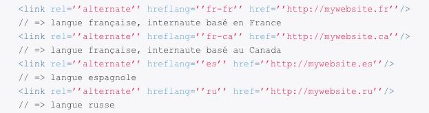 Code balise Hreflang