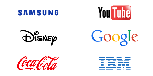 exemples logotypes - Logo, logotype, insigne : définitions et différences