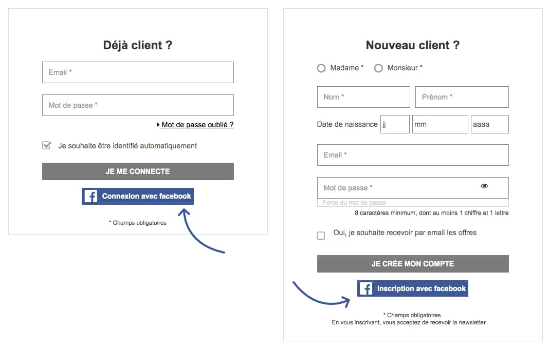 facebook login screenshot 1024x650 - Comment intégrer le Facebook login sur son site internet WordPress