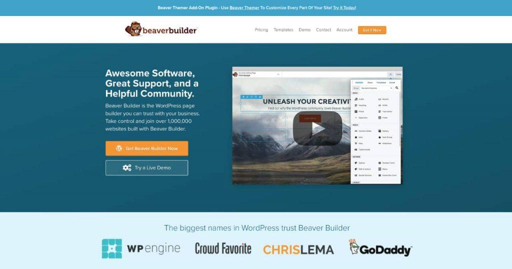 beaver 1024x538 - Les constructeurs de pages WordPress, des solutions historiques à Oxygen builder