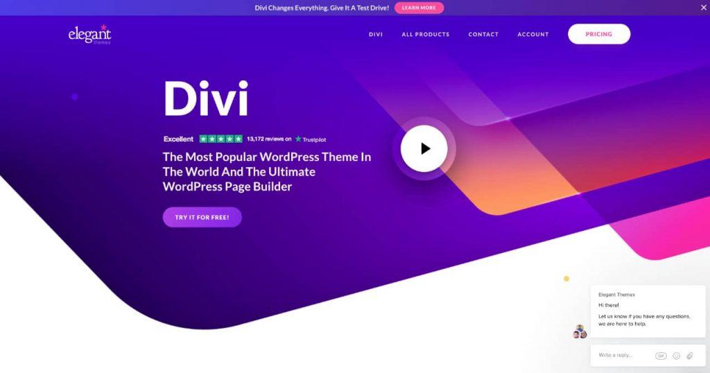 divi 1024x538 - Les constructeurs de pages WordPress, des solutions historiques à Oxygen builder