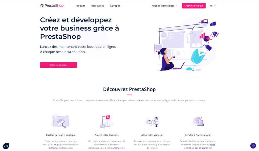 prestashop 1024x598 - Quelle plateforme choisir pour créer son site e-commerce ?