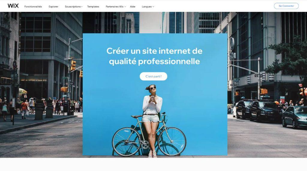 wix 1024x571 - Quelle plateforme choisir pour créer son site e-commerce ?