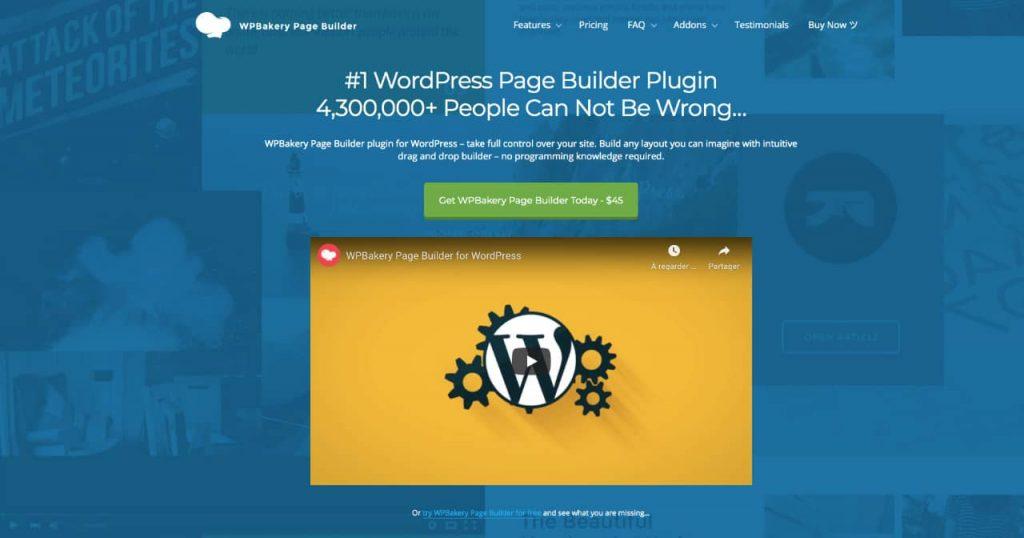 wpbakery 1024x538 - Les constructeurs de pages WordPress, des solutions historiques à Oxygen builder