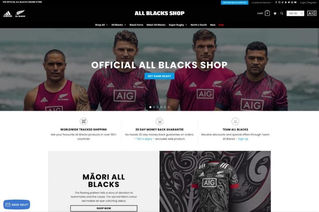 allblacks ecommerce 1024x682 - WordPress c'est aussi pour les gros sites e-commerce