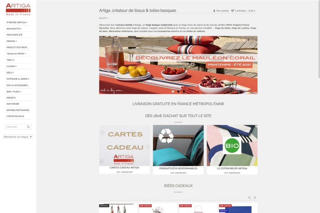artiga ecommerce 1024x682 - WordPress c'est aussi pour les gros sites e-commerce